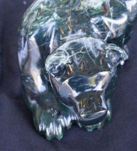 Serpentine jade bear, by Paul McCarl